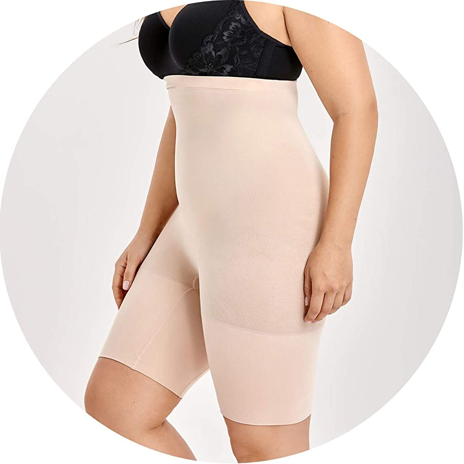 New face Women's Plus Size Tummy Control Panties Thigh Slimmer Shapewear Shorts