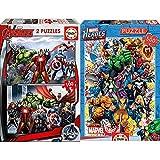 Educa Avengers Los Vengadores 2 Puzzles De 100 Piezas, Multicolor (15771) + Héroes Marvel Puzzle, 500 Piezas, Multicolor (15560)