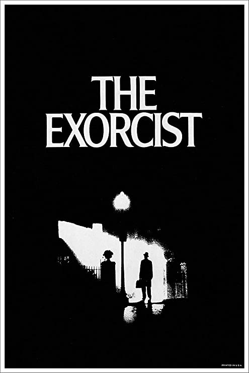 American Gift Services Vintage Black And White Horror Movie Poster The Exorcist 24x36 Posters Prints