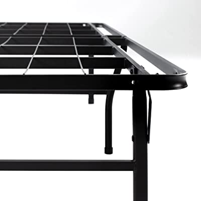 Zinus 46 cm Sommier Très Résistant Smartbase | Sommier Plateforme en Métal | Facile à Monter | Rangement sous le Lit | 160 X 200 cm | Noir