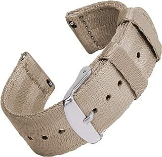 Archer Watch Straps Seat Belt Nylon Quick Release Watch Bands | Multiple Colors, 18mm, 20mm, 22mm