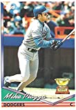 MIKE PIAZZA - 1994 TOPPS ALL STAR ROOKIE COLLECTIBLE BASEBALL CARD #1 (LOS ANGELES DODGERS) - FREE SHIPPING. rookie card picture