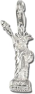 FC3026 Argent 925 Sterling Charm statue de la libert/é en argent pour charms colliers bracelets boucles doreilles SilberDream Charms