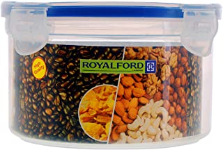 Royalford 300ml Meal Prep Container  Transparent Food Container   BPA Free, Reusable, Airtight Food Storage Tray with Snap...