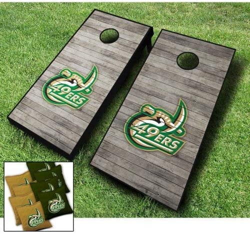 UNC Charlotte Quality inspection 49ERS Year-end gift Distressed Themed Wraps Cornhole Set B Board