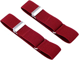 SupSuspen Men's 2 PCS Solid Color Shirt Garters Sleeve Holders Armbands 1''Width