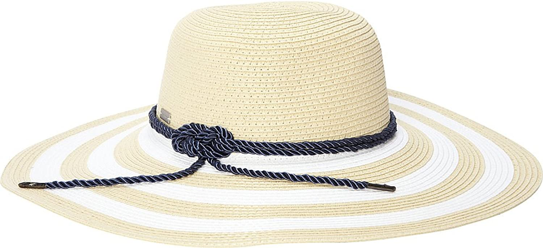 Betmar New York Demetria Wide Brim Hat (White Natural)