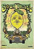 Califari Sour Diesel – Vivid Strain Art Wandposter,