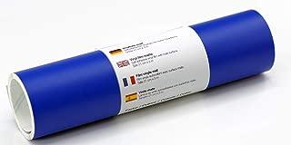 Lámina de tatuaje de pared mate 21 cm x 3 m - elección de colores, Color:Azul Brillante