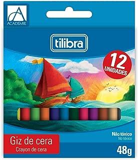 Giz de Cera 12 Cores Académie,Tilibra