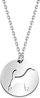 BLEOUK Dog Necklace Dog Lover Gift for Women Friend Dog Jewelry Dog Owner Gifts Personalized Pet Gifts Cute Pet Dog Pendan...