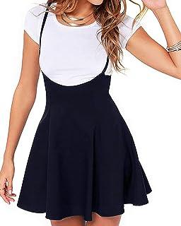 Women's Suspender Skirts Basic High Waist Versatile...