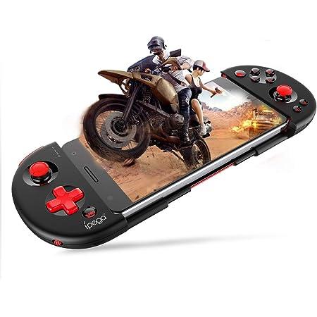 【PG-9087改良進化版】PG-9087S iPhone コントローラー 伸縮性のゲームパッド ios コントローラー PUBG Mobile/荒野行動 iPhone/iPad/Android対応 (上記はios13.4以降をサポートしていません)【一年間保証/日本語説明書】