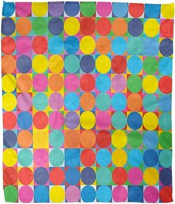 60 x 80 Deny Designs Sophia Buddenhagen Colored Circles Fleece Throw Blanket