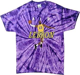 TIE-DYE Purple Los Angeles Lebron AIR PIC T-Shirt