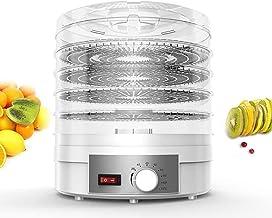 GWFVA Sèche-Aliments électrique et déshydrateur sans BPA, réglage de la température 35~70 ℃, déshydrateur de Machine à 5 P...
