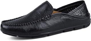 Sygjal Men's Fashion Moccasins Wave Sole Soft & Super Light Slip On Driving Loafer (Color : Blue, Size : 43 EU)