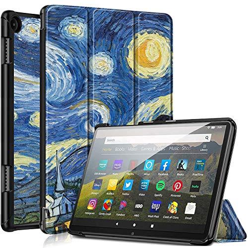 Funda de piel para Kindle Fire HD 8 y Fire HD 8 Plus de 10ª generación 2020, con función atril magnética y función atril (Starry)