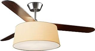LEDs- C4 PAN-146-20 Belmont - Pantalla tela para luminaria con ventilador, Beige, 460x195mm
