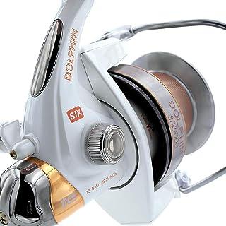 comprar comparacion TICA - Carrete Dolphin STX 9000 4.1 con guía de Hilo antitorsión, Chapado en Titanio, 4,1 Pescador, Aluminio, Blanco, Crom...