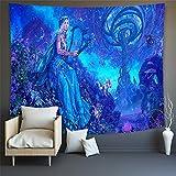 KHKJ Tapiz de Mandala Bohemio Pintura al óleo Arte Impreso Tapiz psicodélico Toalla de Playa montada en la Pared Manta Fina A2 150x130cm