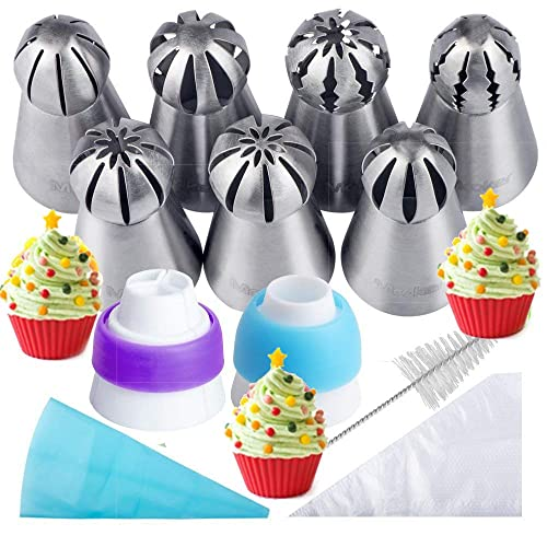 New Icing Piping Russian Nozzles Bag Cream Converter Coupler Cake Decor Tools DS