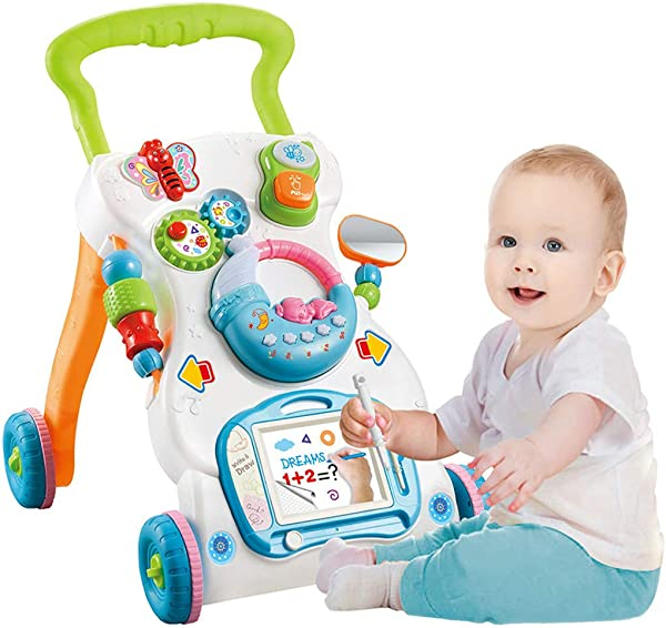 Sit To Stand Learning Walker Multi Function Stroller Best Toy For Children Learn With Musical Walker