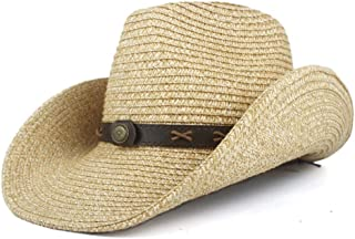Sun Hat for men and women Western Cowboy Hats Panama Hat Men Women Summer Straw Cowgirl Party Costume Crimping Western Hat Sombrero Hombre Cowboy Hats For Men