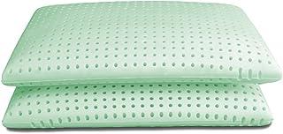 Baldiflex - Par de almohadas de espuma viscoelástica ecológica, modelo Ecogreen 73 x 42 cm, altura 15 cm, funda de Silver Safe