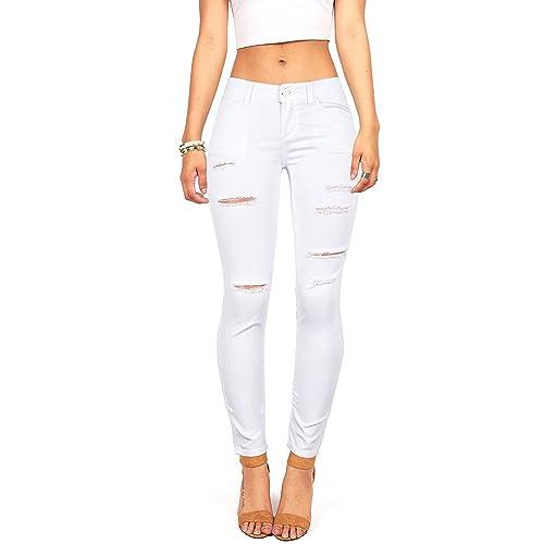 f9354b9ca2c Wax Women's Juniors Mid-Rise Skinny Jegging Jeans w Distressing