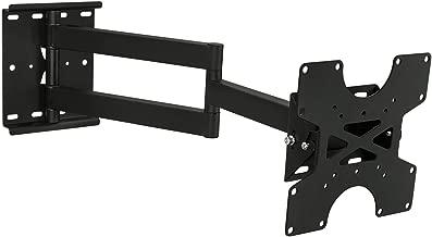 Mount-It! TV Wall Mount Full Motion Bracket For 30, 32, 35, 37, 40 Inch Televisions Fits LCD/LED/Plasma 4K Flat Screens, VESA 75x75 to 200x200, 100 Lb Weight Capacity, Black (MI-411)