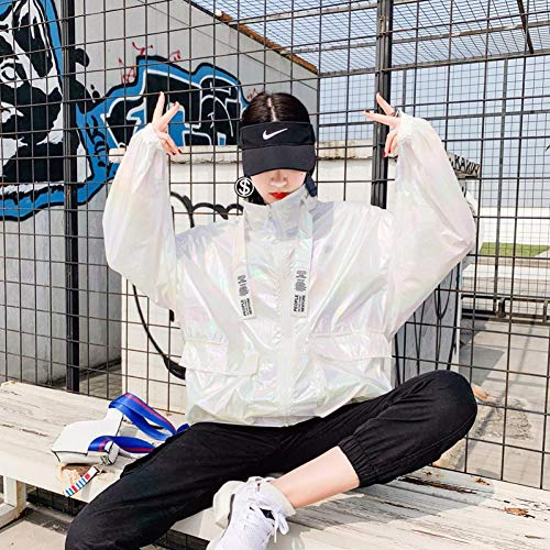 NSWTKL jeansjas vrouwen met capuchon zomer causal print windbreaker vrouwen basic mantel pullover bomberjacks vrouwen versterkte bovenkleding