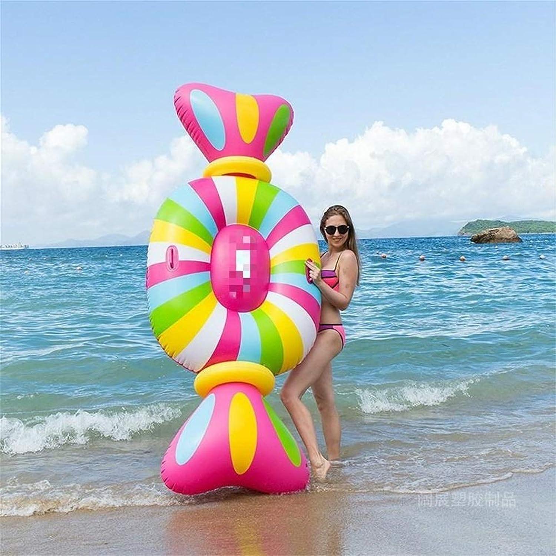 Go out Aufblasbarer Schwebebett,Aufblasbare Süigkeiten Float Freizeit Urlaub Schwimmen-Party-Spielzeug Spa Entspannungsspielzeug (210  90  20CM)