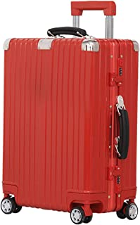 "SRY-Luggage ABS + PC Material Trolley Case, Waterproof Luggage Case, Roller Walking Scroll Box, 20"" 24"" Inches Durable Carry on Luggage (Color : Red, Size : 20inch)"