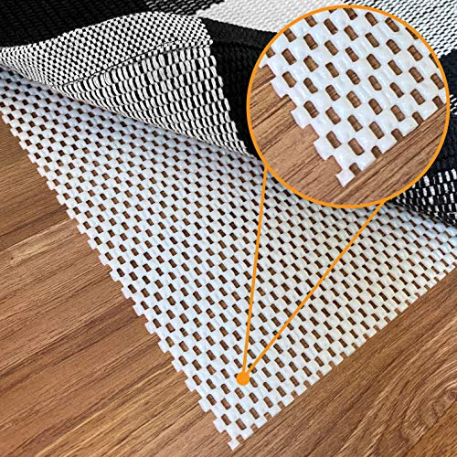 Non-Slip Rug Pad Gripper - 8 x 10 Ft Anti Skid Carpet Mat, Provides Protection for Hardwood Floors and Hard Surfaces, Extra Strong Grip and Thick Padding for Safe and in Place Your Area Rugs & Runners