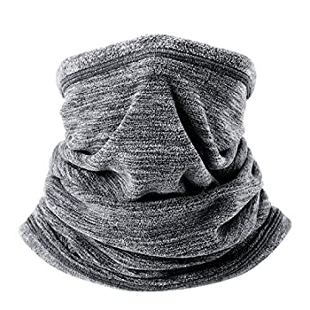 wtactful Soft Fleece Neck Gaiter Neck Warmer Face Mask Balaclava Cover for Cold Weather Windproof Gear Winter Outdoor Sports Snowboard Skiing Cycling Motorcycle Hunting Fishing Men Women Gray