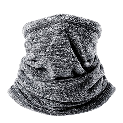 WTACTFUL Soft Fleece Neck Gaiter Warmer Face Mask Cover for Cold Weather Gear Winter Outdoor Sports Snowboard Skiing Cycling Motorcycle Hunting Fishing Suitable Men Women AA-C-01 Gray