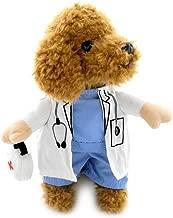 SELMAI Puppy Pet Dog Cat Doctor Suit Costume Fancy Dress Small Dog Coat Medicine Box Decorated All Seasons