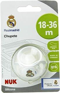 NUK Genius Chupete del Real Madrid para Bebé de Silicona con Tetina Anatómica en Forma de Pezón Materno Color Blanco 18...