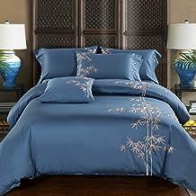 غطاء لحاف من القطن الساتان بدلة ربيع وصيف 60 أغطية سرير مطرزة أربعة لحاف كتان نسيج منزلي (اللون: B، الحجم: 2. 0م سرير)
