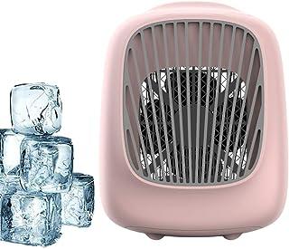 N /A QJYNS Mini refrigerador de Aire portátil USB, purificador de humidificador de Aire Acondicionado, pequeño Ventilador de Escritorio para Oficina, hogar, Viaje al Aire Libre