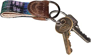 Hide & Drink Rustic Mayan Key Chain Handmade Tropical Blue