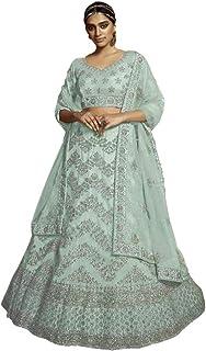 PINKKART Indiano/Pakistano Designer Musulmano Soft Net Lehenga Choli Dupatta Ghaghara Gonna Vestito 5256 f