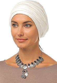 Gingerlining Simple Drape Cotton Turban Hijab for Women (Off White)