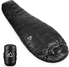 Terra Hiker Down Sleeping Bag, Outdoor Mummy Bag for Backpacking and Mountaineering, Lightweight 4-Season Sleeping Bag for Men, Women, Max User Height 6'3