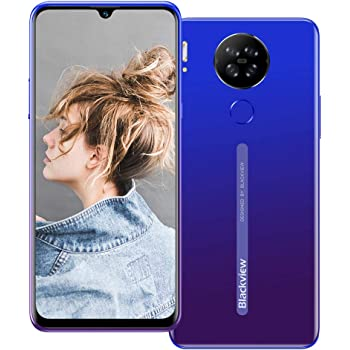 Blackview A80 Pro (2020) Smartphone sin contrato 4G – 6,49 pulgadas HD + pantalla 4680 mAh batería, cámara de 13 MP Quad, Helio P25 4 GB RAM/64 GB ROM, ampliable 256 GB