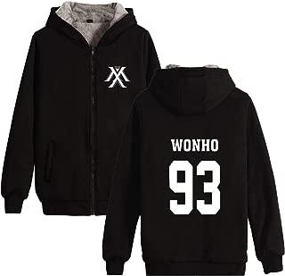 Kpop Monsta X Thick Zip-up Hoodie IM Jooheon Wonho Shownu Sweater Jacket