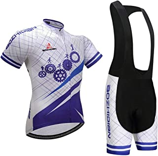 HEJUNF AU Summer Bicycle Short Sleeve Wicking Breathable Cycling Jersey (Color : Purple, Size : XS)