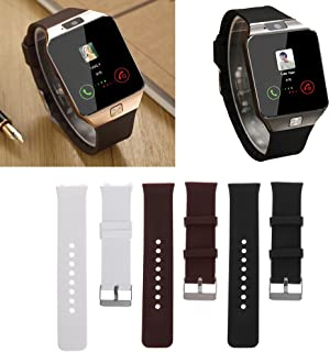 BKID Replacement Watch Band, Silicone Watch Strap Wristband for DZ09 Smart Watch