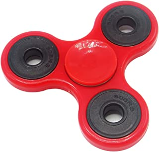 Superb High Speed Fidget Spinner | Stress Relief Anti-Anxiety Relaxation Boredom Spinner | Kids and Adults – Party Favor, Gift for Autism ADHD – RED